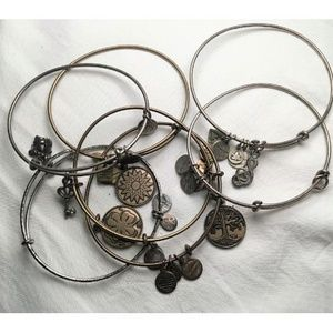 Lot of 7 Alex and Ani Bracelets
